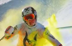 Marcel Hirscher w najbardziej kolorowym zjeździe narciarskim