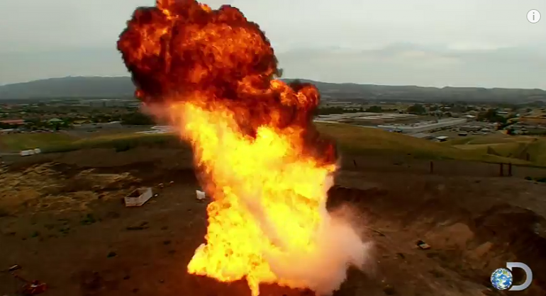 Wielkie wybuchy z Jamie Hynemans w Pogromcach Mitów