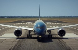Pionowy start Boeinga 787-9 Dreamliner