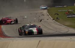 Wypadek Ferrari podczas Road America 2015.