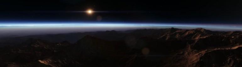 Symulacja 3D przestrzeni kosmicznej i obcych światów