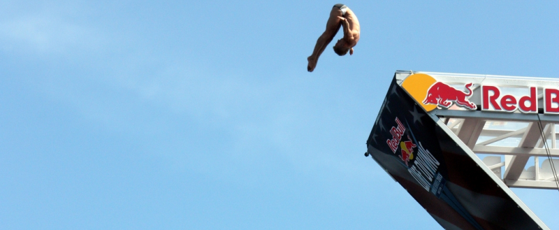 Red Bull Cliff Diving – jest i nasz akcent