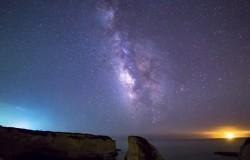 Eksplozja meteoru na niebie