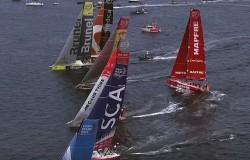 Volvo Ocean Race 2014-15 portowy wyścig w Lorient