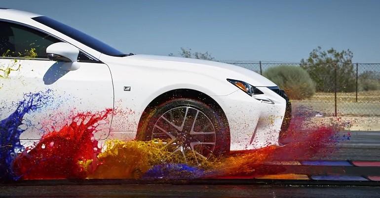 Lexus i gama barw w slow motion