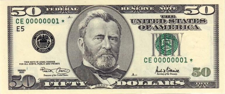 Fałszywy banknot 50 $ jest tak naprawdę 10 $