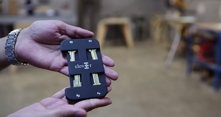 d04163a1699c7 Clover bezpieczny portfel na karty i klucze - XMOON.PL