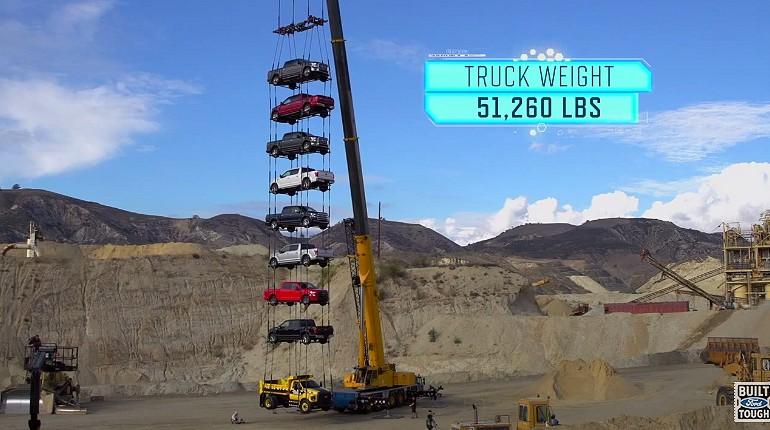 Ford Super Duty test wytrzymałości stalowej ramy.