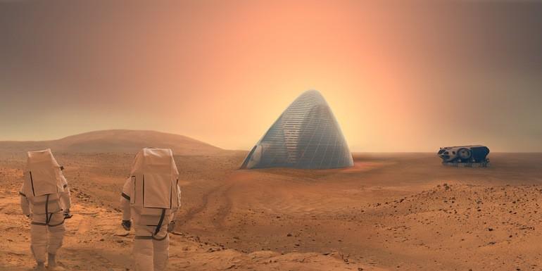 Domy na Marsie będą zrobione z lodu