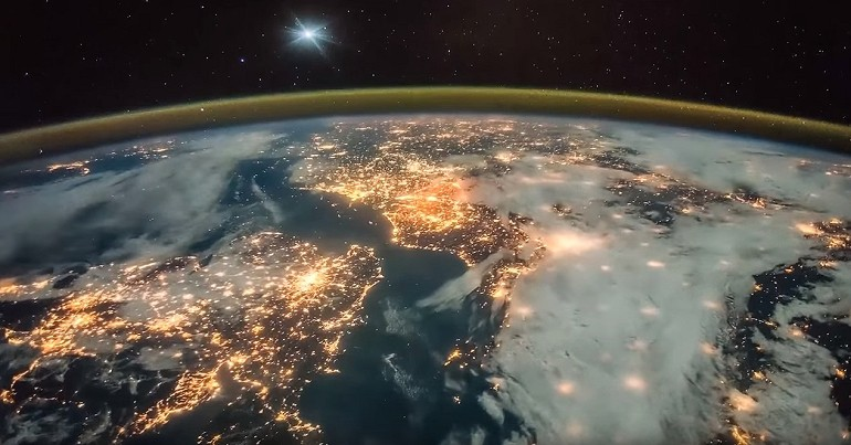 Ziemia widziana z kosmosu – przelot nad Europą