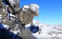 Olbrzymia skała oderwała się w Alpach