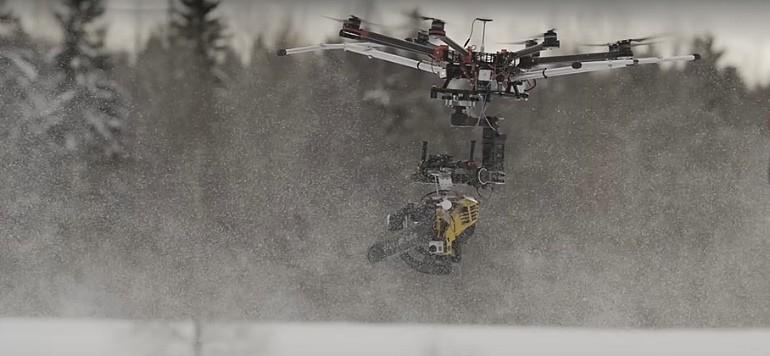 KILLERDRONE latająca piła motorowa na dronie