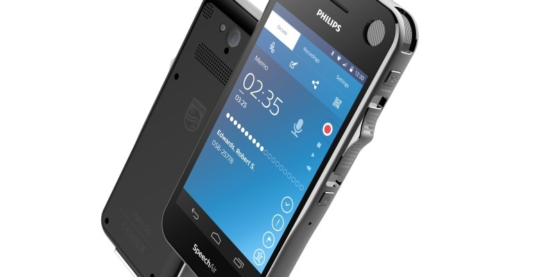 Dyktafon SpeechAir głosu Philips z Androidem