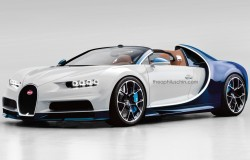 Bugatti Chiron rendering do wersji Grand Sport