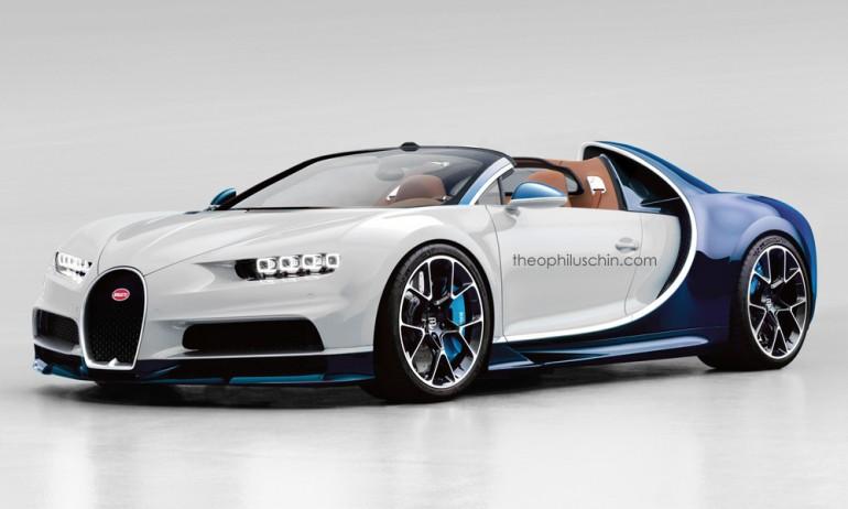 Bugatti Chiron rendering do wersji Grand Sport