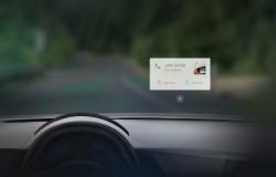 Wayray Navion projektor VR na przednią szybą auta