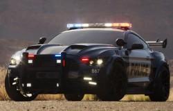 Transformers 5 model policyjnego auta Decepticonów Barricade jako Ford Mustang