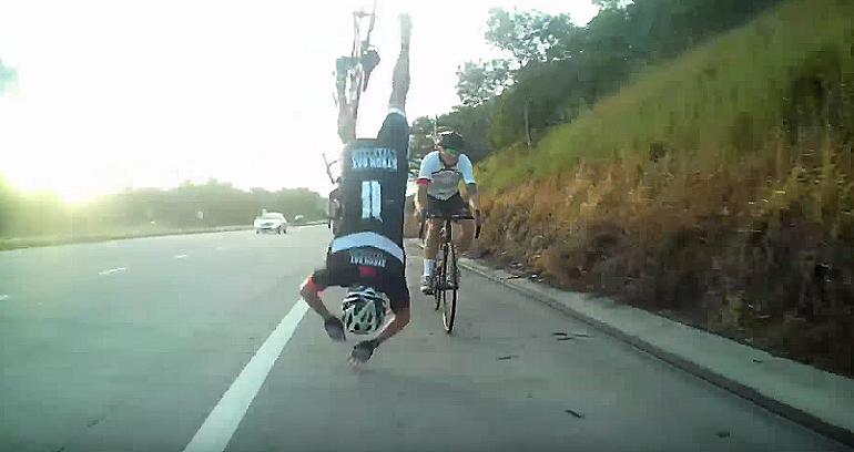 Niewielka przeszkoda i wylatujesz z rowera przy szybkiej jeździe