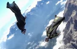 Latanie nad Dolomitami w skafandrze Wingsuit