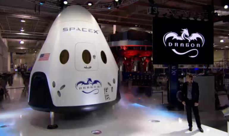 Opóźnienia SpaceX do wysłania załogowych kapsuł Dragon do 2018 roku